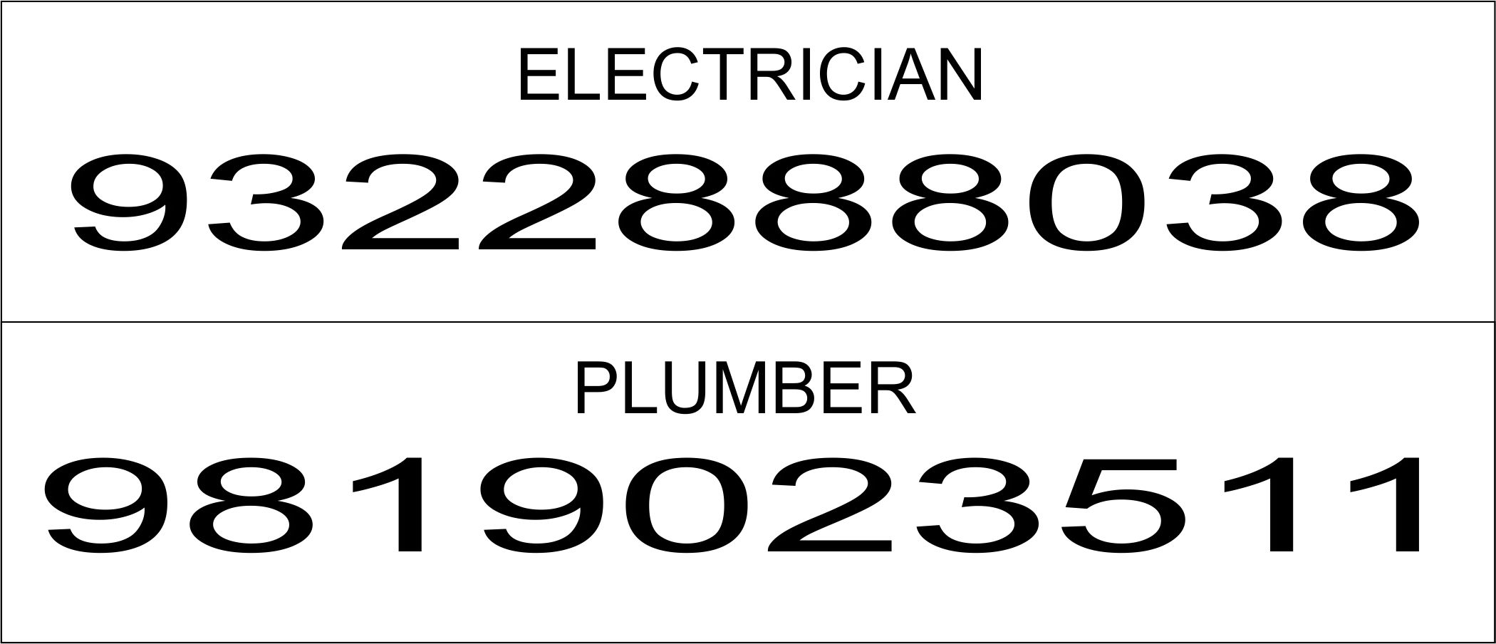 electrician and plumber